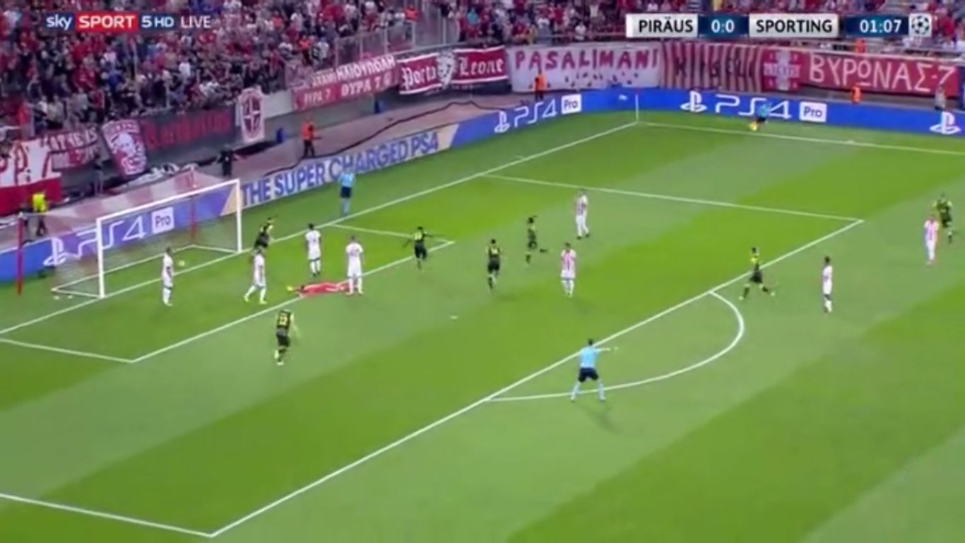 12-09-2017 - Olympiacos 2-3 Sporting CP (CHAMPIONS LEAGUE)