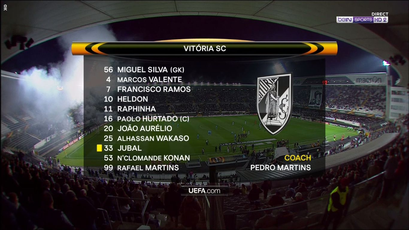 02-11-2017 - Vitoria de Guimaraes 1-0 Marseille (EUROPA LEAGUE)
