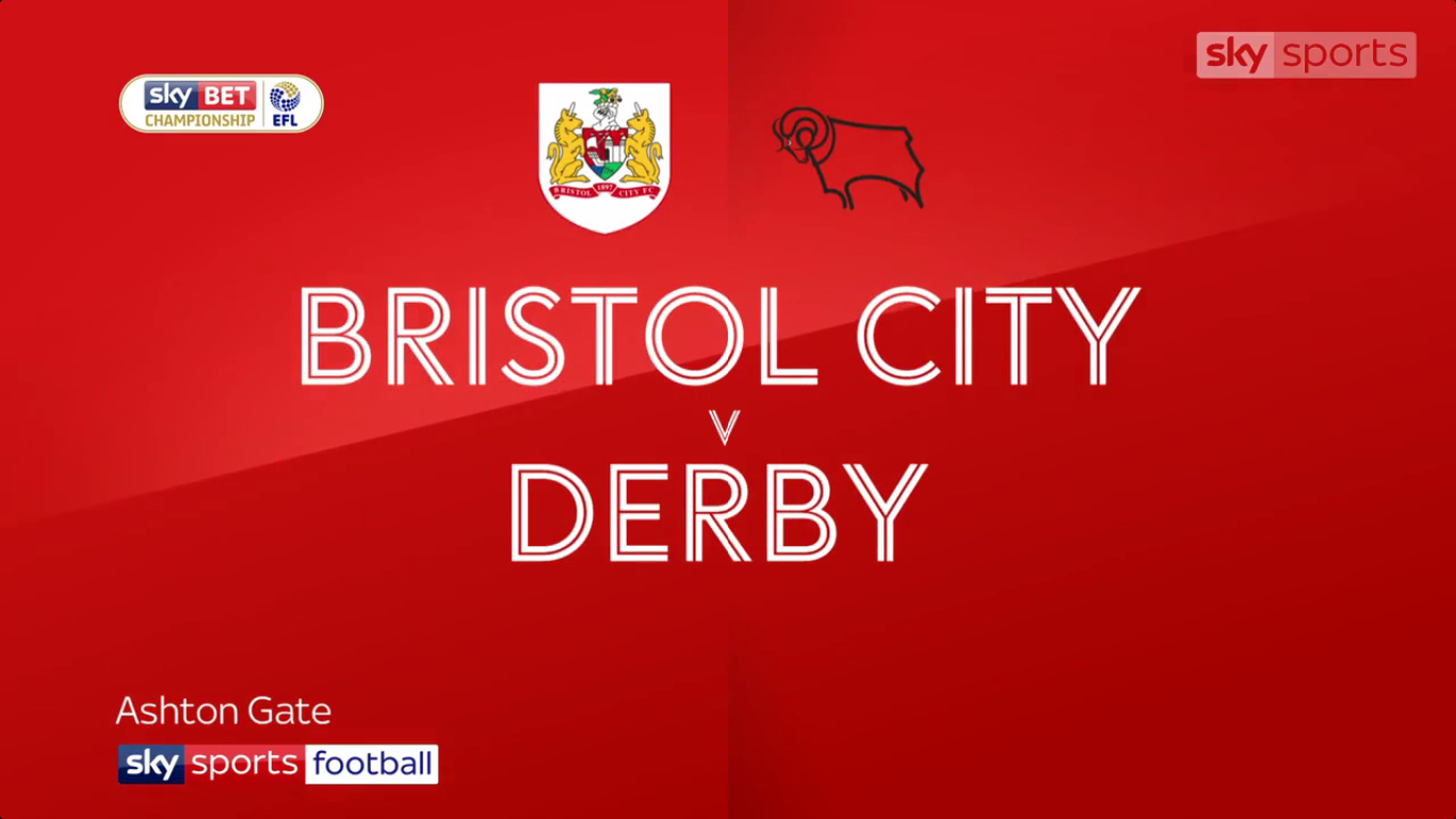 16-09-2017 - Bristol City 4-1 Derby County (CHAMPIONSHIP)