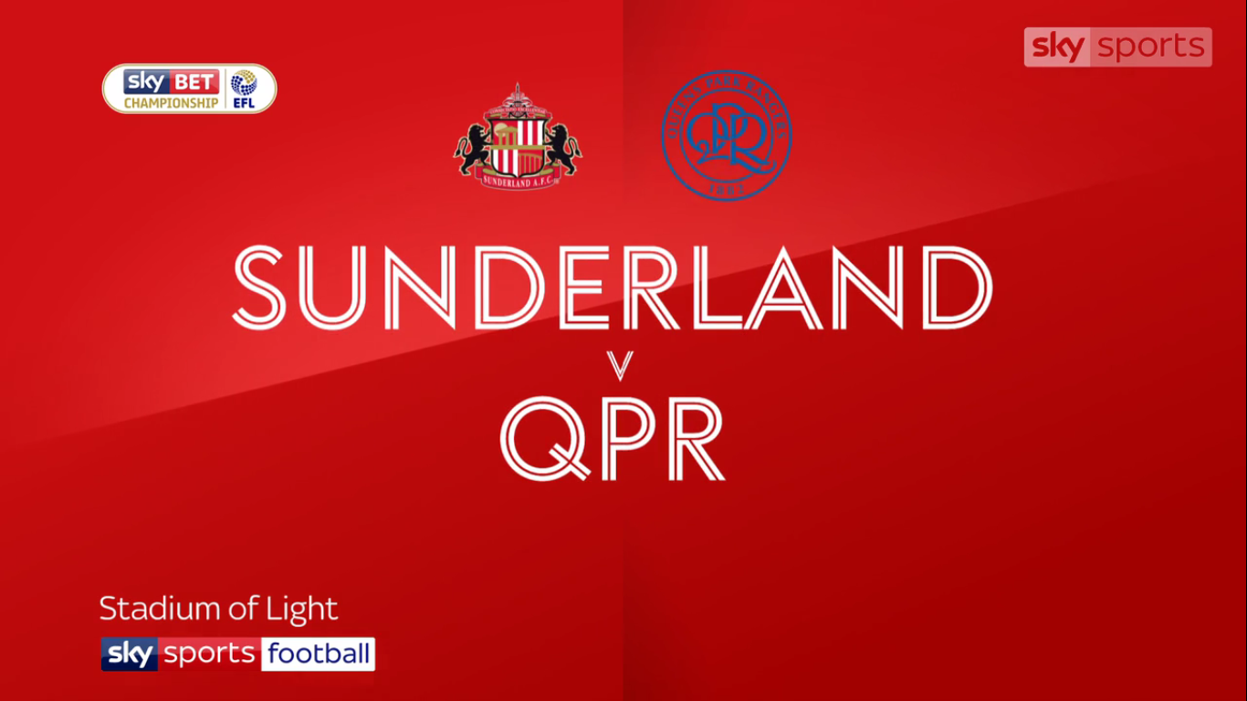 14-10-2017 - Sunderland 1-1 Queens Park Rangers (CHAMPIONSHIP)