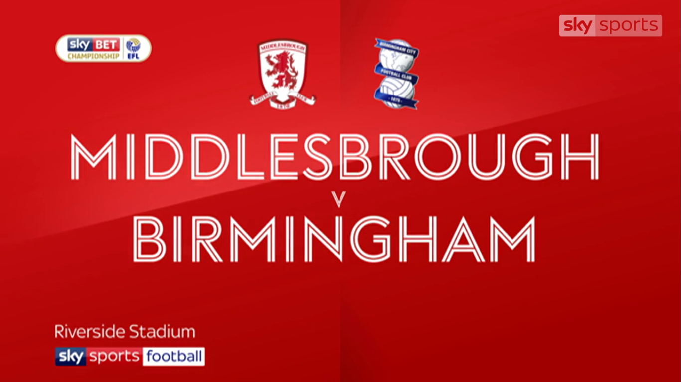 22-11-2017 - Middlesbrough 2-0 Birmingham City (CHAMPIONSHIP)