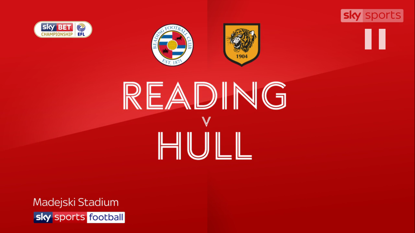 23-09-2017 - Reading 1-1 Hull City (CHAMPIONSHIP)