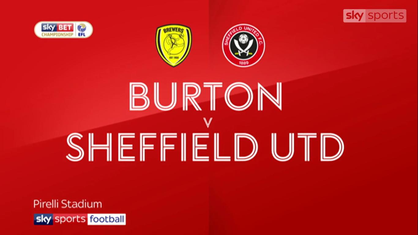 17-11-2017 - Burton Albion 1-3 Sheffield United (CHAMPIONSHIP)