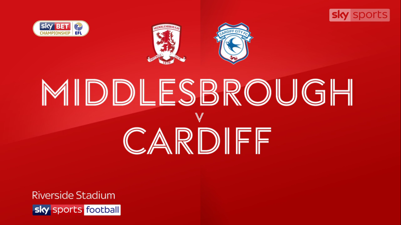 21-10-2017 - Middlesbrough 0-1 Cardiff City (CHAMPIONSHIP)