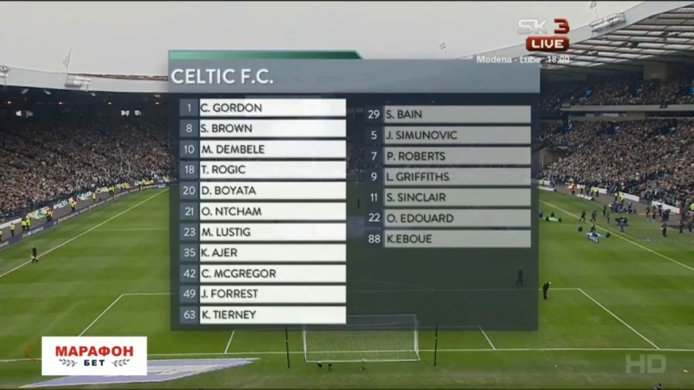 15-04-2018 - Celtic 4-0 Rangers (SCOTTISH CUP)