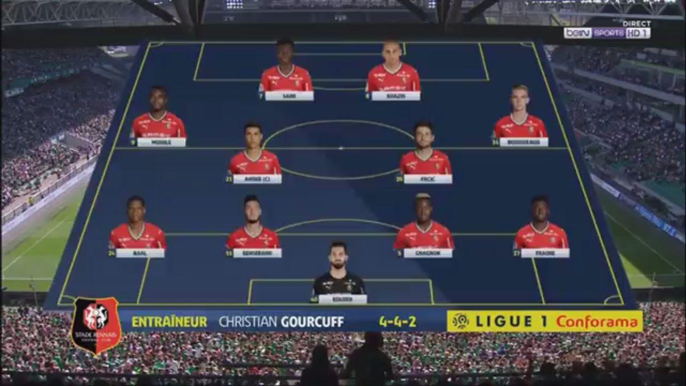 24-09-2017 - Saint-Etienne 2-2 Rennes