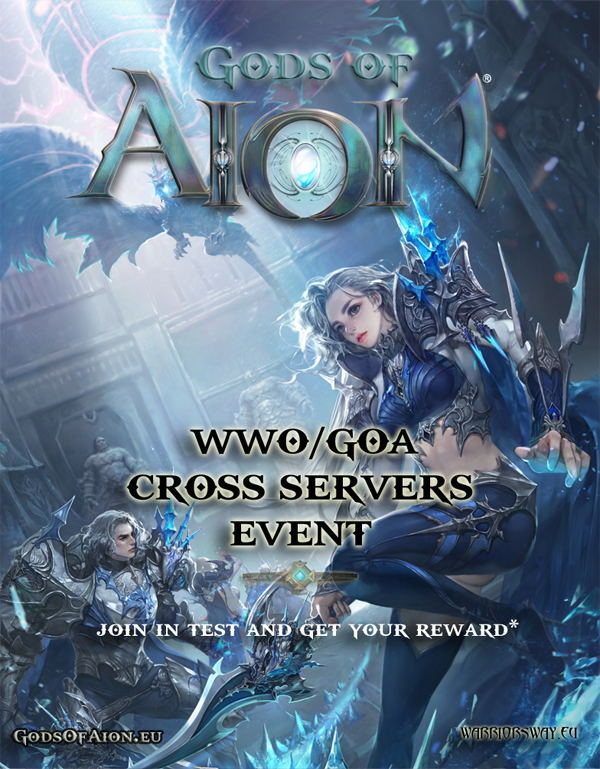 Warriors Way Online and Gods of Aion Cross server event
