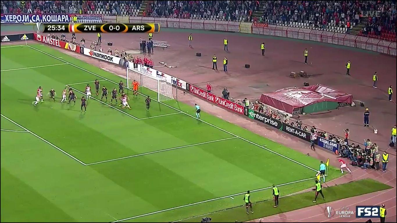 19-10-2017 - FK Crvena Zvezda 0-1 Arsenal (EUROPA LEAGUE)