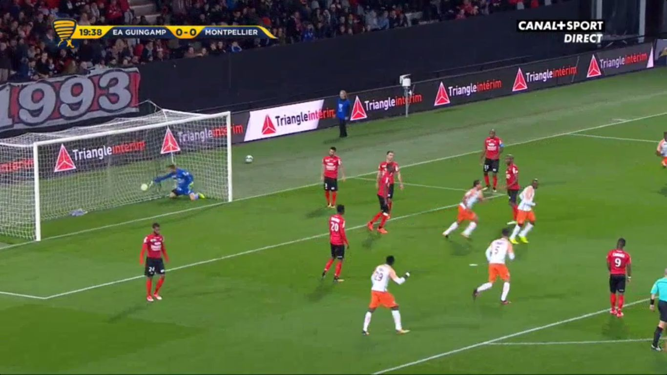 24-10-2017 - Guingamp 0-2 Montpellier (LEAGUE CUP)