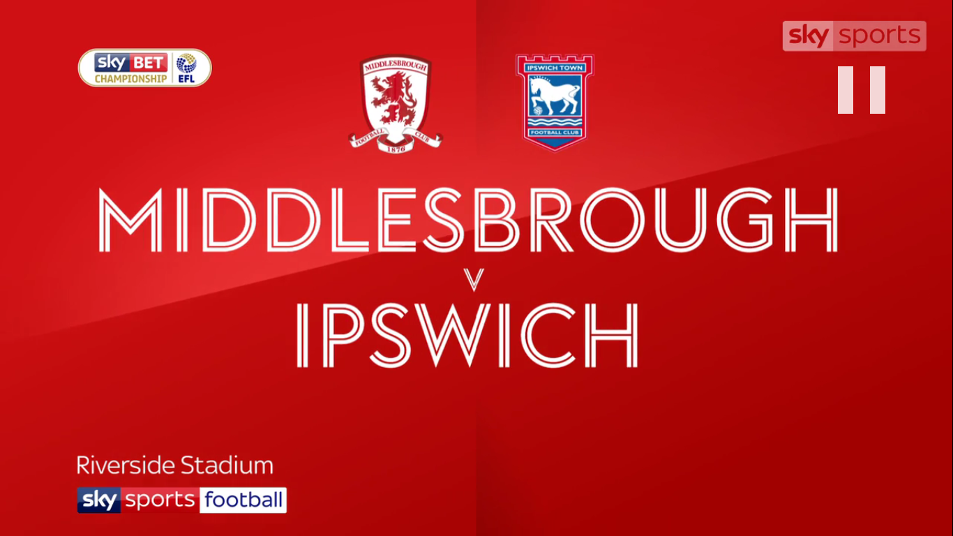09-12-2017 - Middlesbrough 2-0 Ipswich Town (CHAMPIONSHIP)