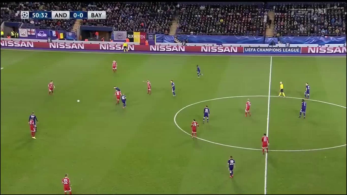 22-11-2017 - Anderlecht 1-2 Bayern Munich (CHAMPIONS LEAGUE)