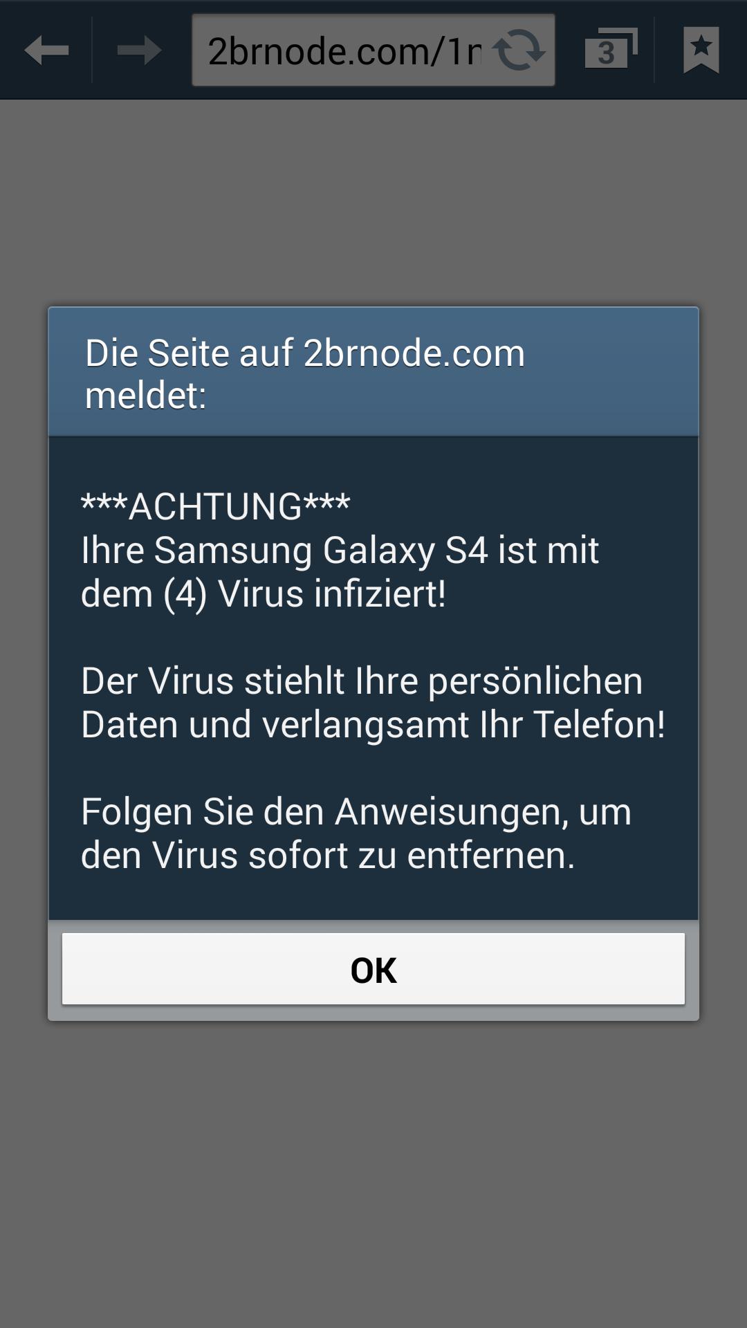 Samsung Virusmeldung