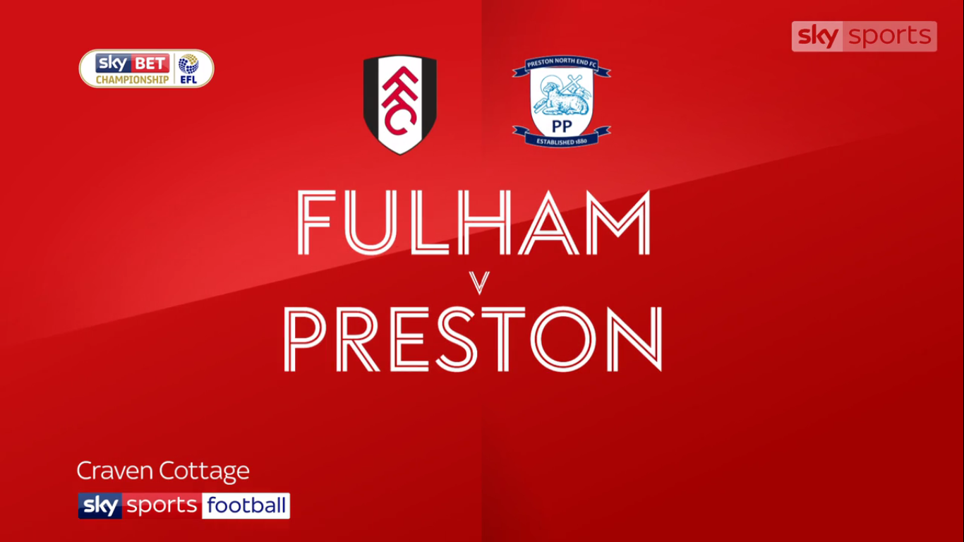 14-10-2017 - Fulham 2-2 Preston North End (CHAMPIONSHIP)