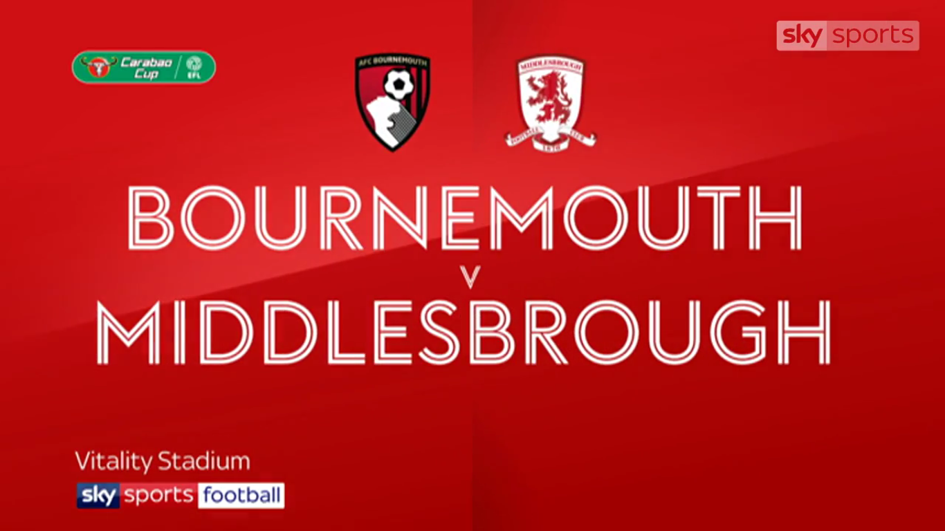 24-10-2017 - AFC Bournemouth 3-1 Middlesbrough (EFL CUP)