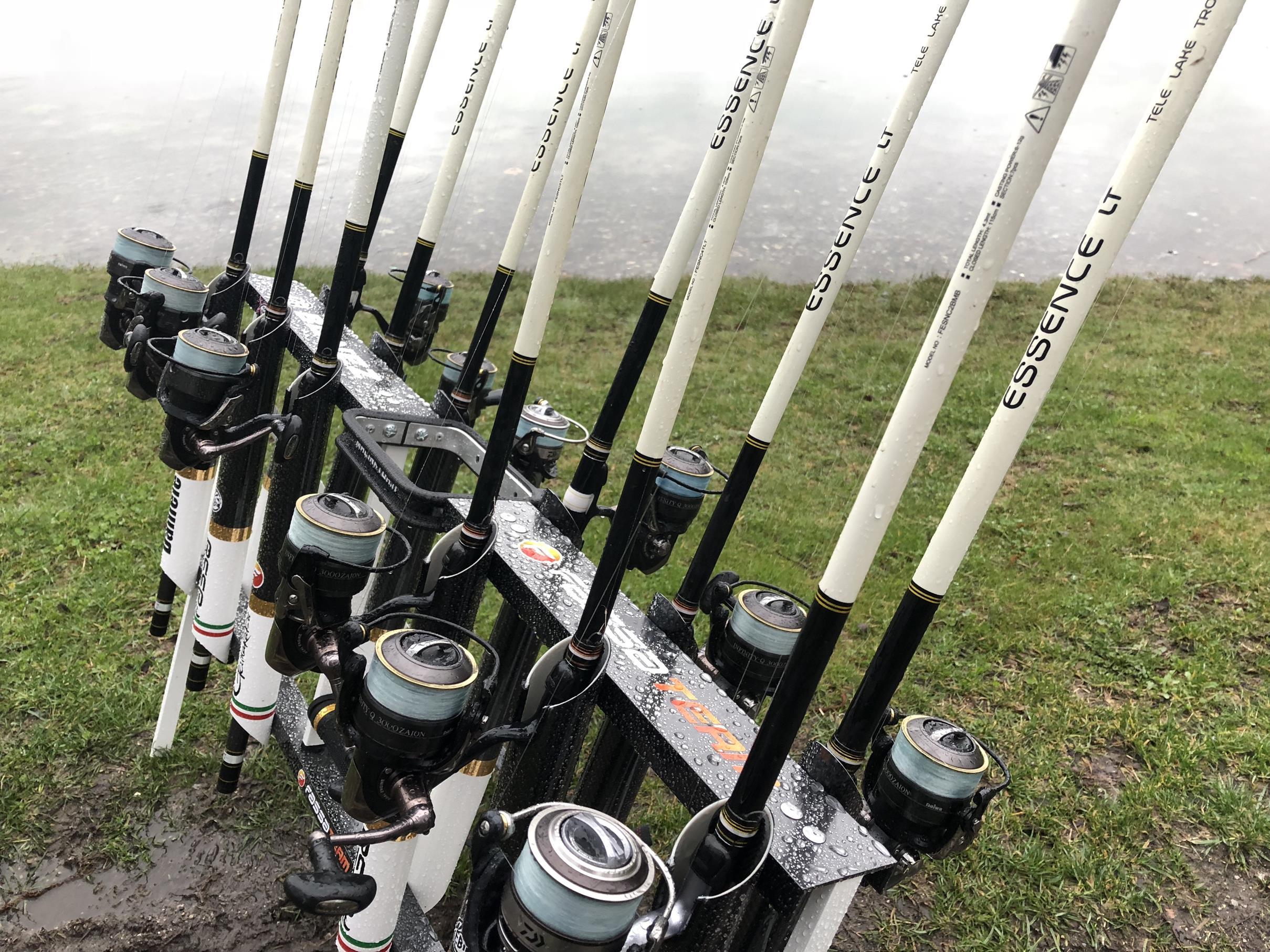 Fassa essence lake trout nuove canne trota lago 2017 for Rastrelliera per canne da pesca