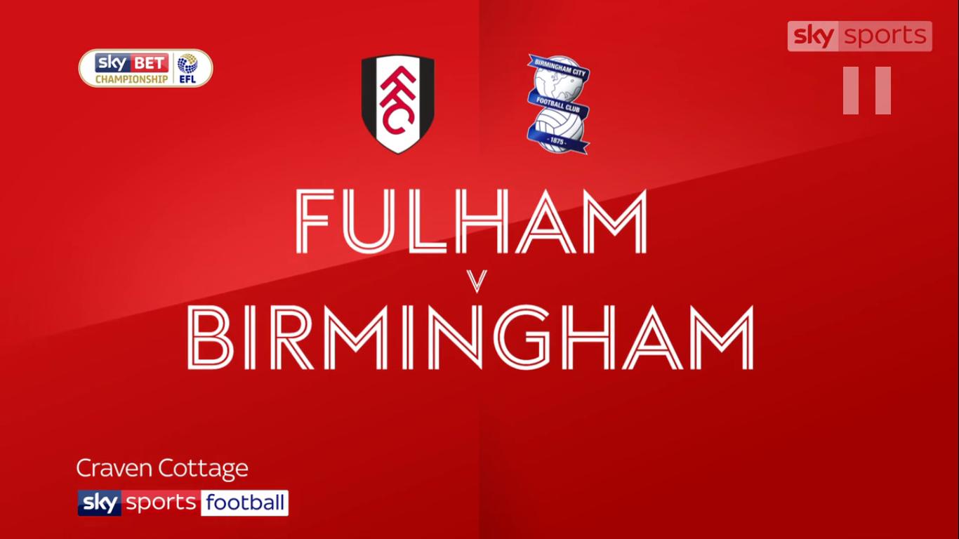 09-12-2017 - Fulham 1-0 Birmingham City (CHAMPIONSHIP)