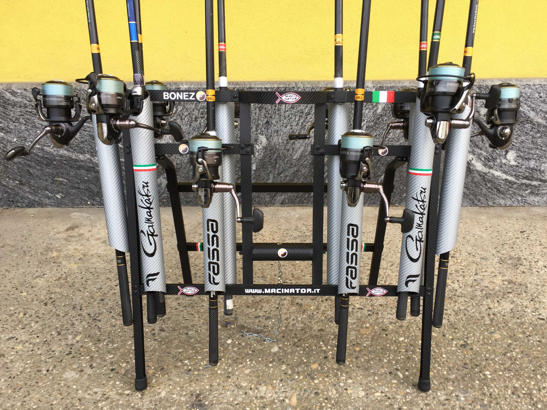 La mia rastrelliera porta canne macinator 39 2015 macinator - Porta canne da pesca fai da te ...