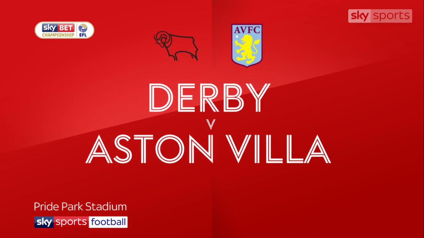 16-12-2017 - Derby County 2-0 Aston Villa (CHAMPIONSHIP)