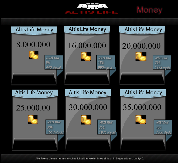 Selling Arma 3 Duping methods (Unlimited money on exile