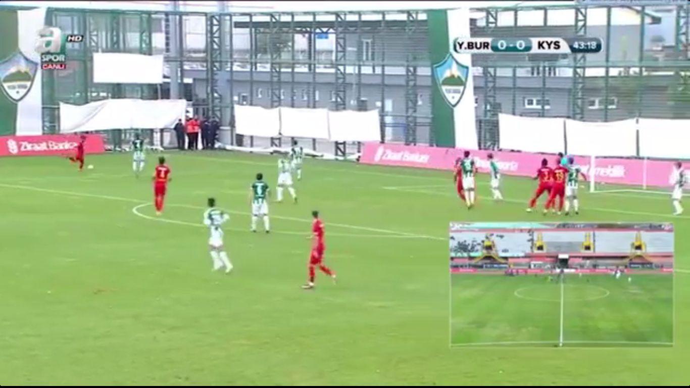 26-10-2017 - Yesil Bursa 1-2 Kayserispor (ZIRAAT CUP)