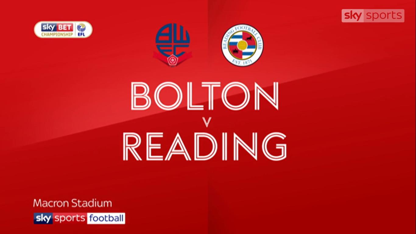 21-11-2017 - Bolton Wanderers 2-2 Reading (CHAMPIONSHIP)