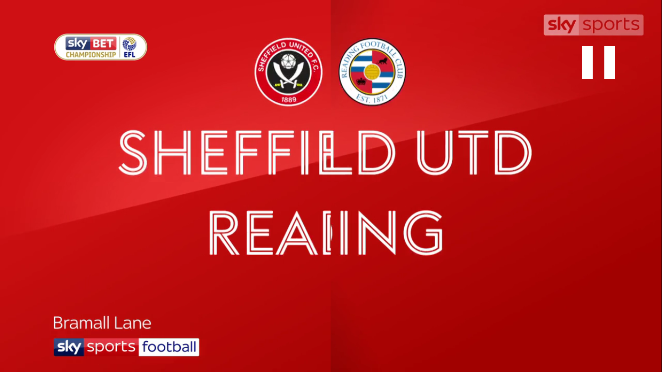 21-10-2017 - Sheffield United 2-1 Reading (CHAMPIONSHIP)