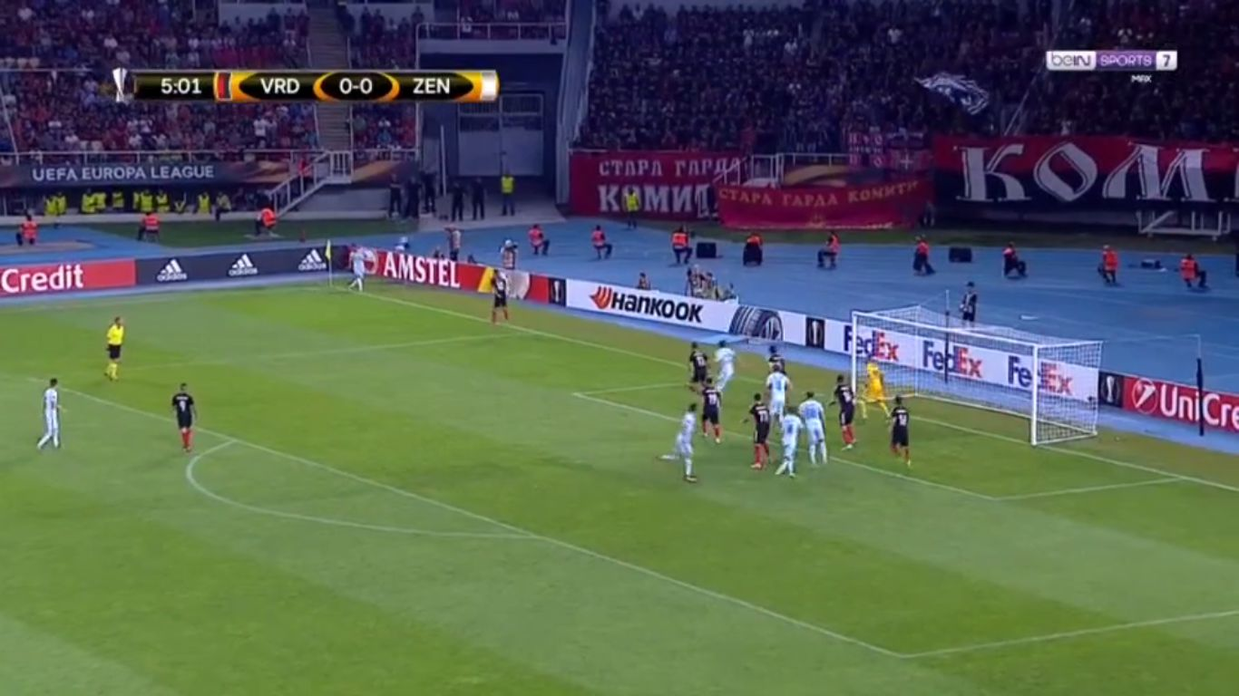 14-09-2017 - FK Vardar Skopje 0-5 Zenit St. Petersburg (EUROPA LEAGUE)