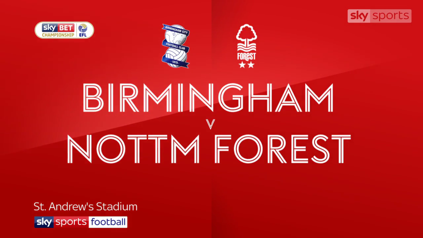 18-11-2017 - Birmingham City 1-0 Nottingham Forest (CHAMPIONSHIP)