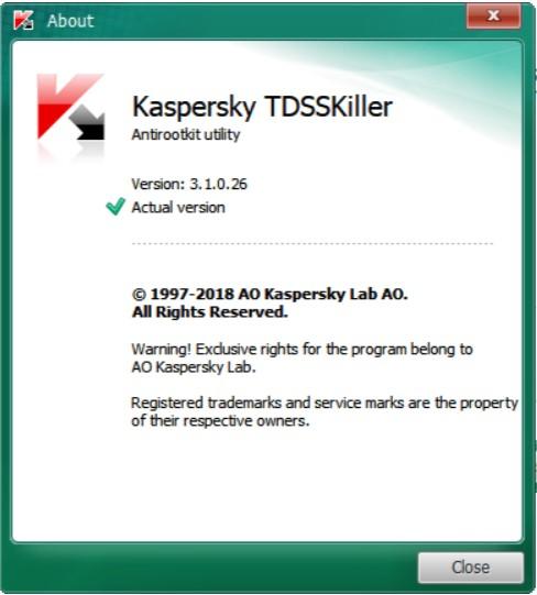 افحص جهازك من الجذور الخفية بهذه الأداة 3.1.0.26  Kaspersky TDSSKiller portable h130eab.jpg
