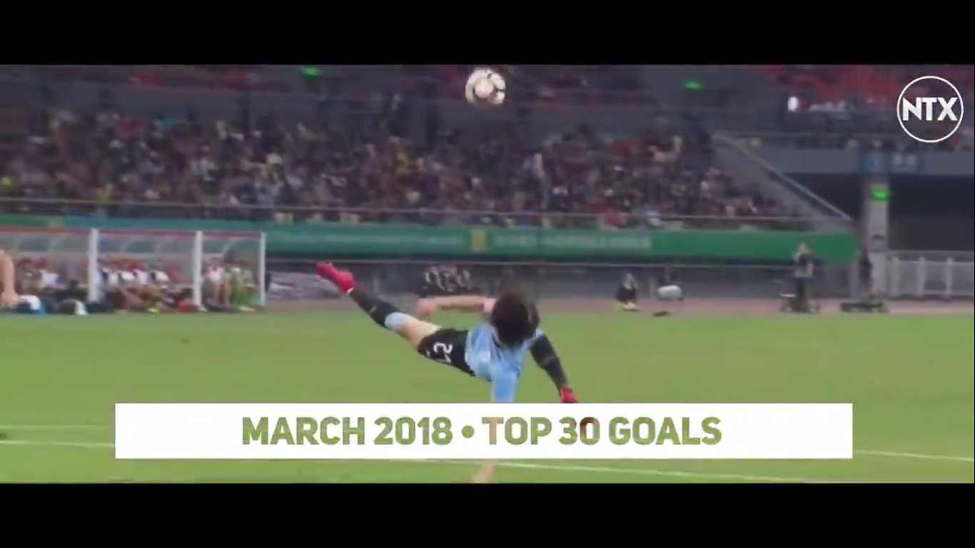 Top 30 Goals of March 2018