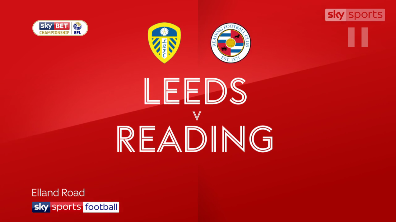 14-10-2017 - Leeds United 0-1 Reading (CHAMPIONSHIP)