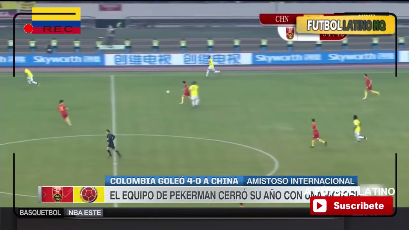 14-11-2017 - China 0-4 Colombia (FRIENDLY)