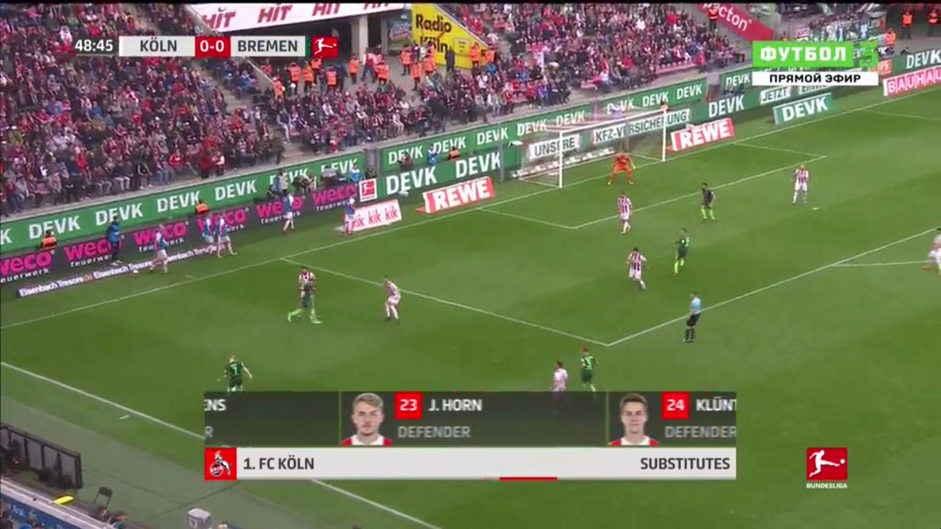 22-10-2017 - FC Cologne 0-0 Werder Bremen
