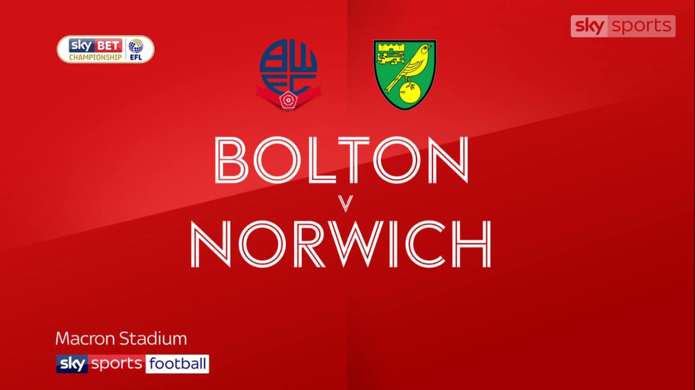 04-11-2017 - Bolton Wanderers 2-1 Norwich City (CHAMPIONSHIP)
