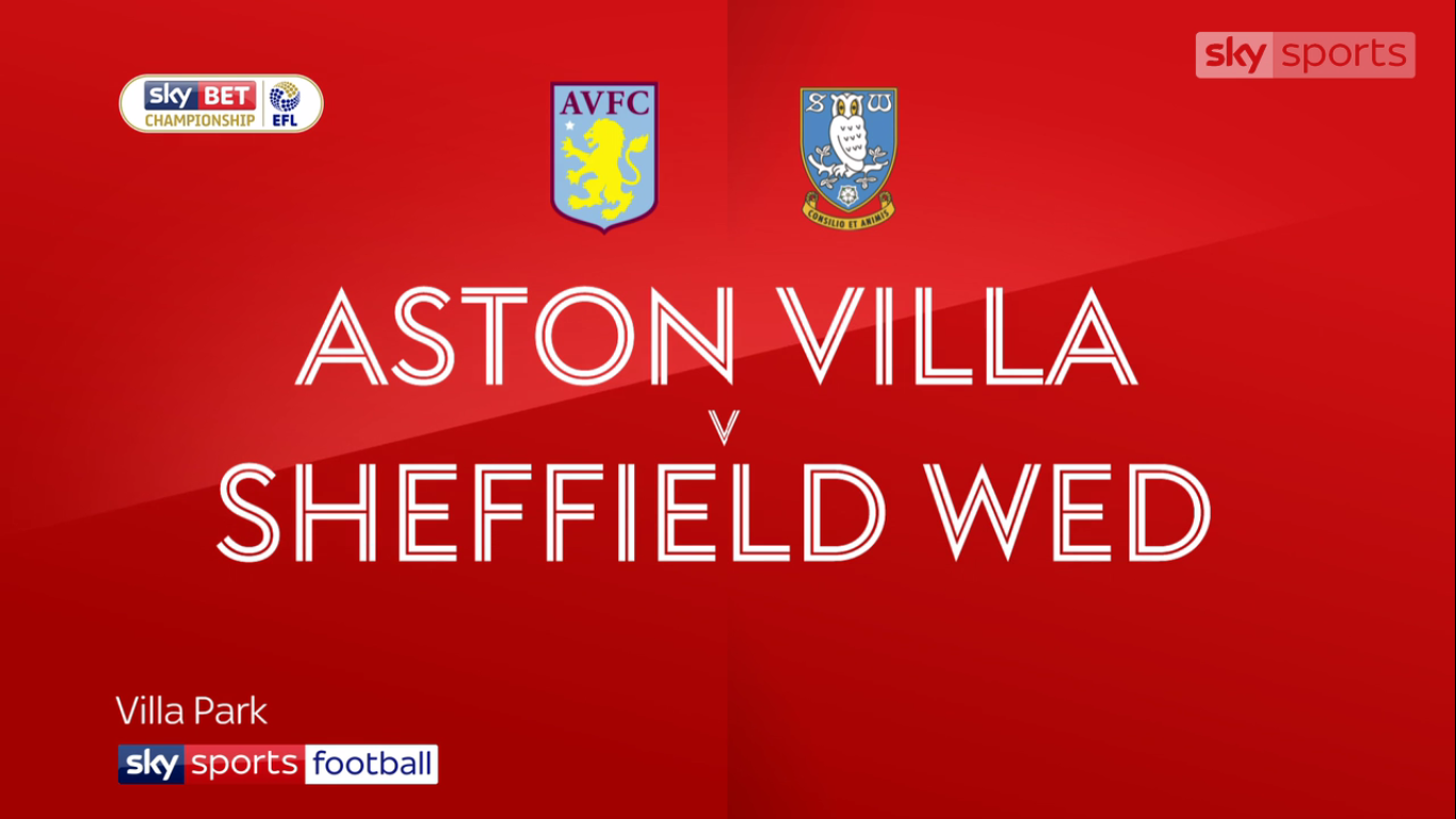 04-11-2017 - Aston Villa 1-2 Sheffield Wednesday (CHAMPIONSHIP)