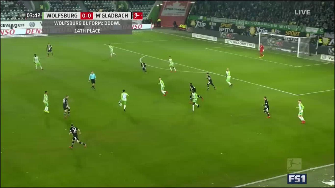 03-12-2017 - Wolfsburg 3-0 Borussia Moenchengladbach