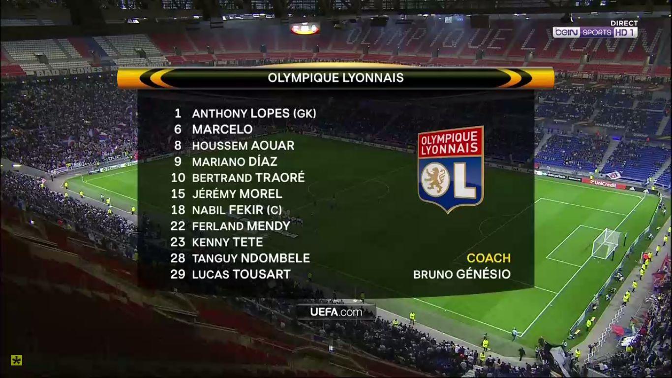 28-09-2017 - Lyon 1-1 Atalanta (EUROPA LEAGUE)