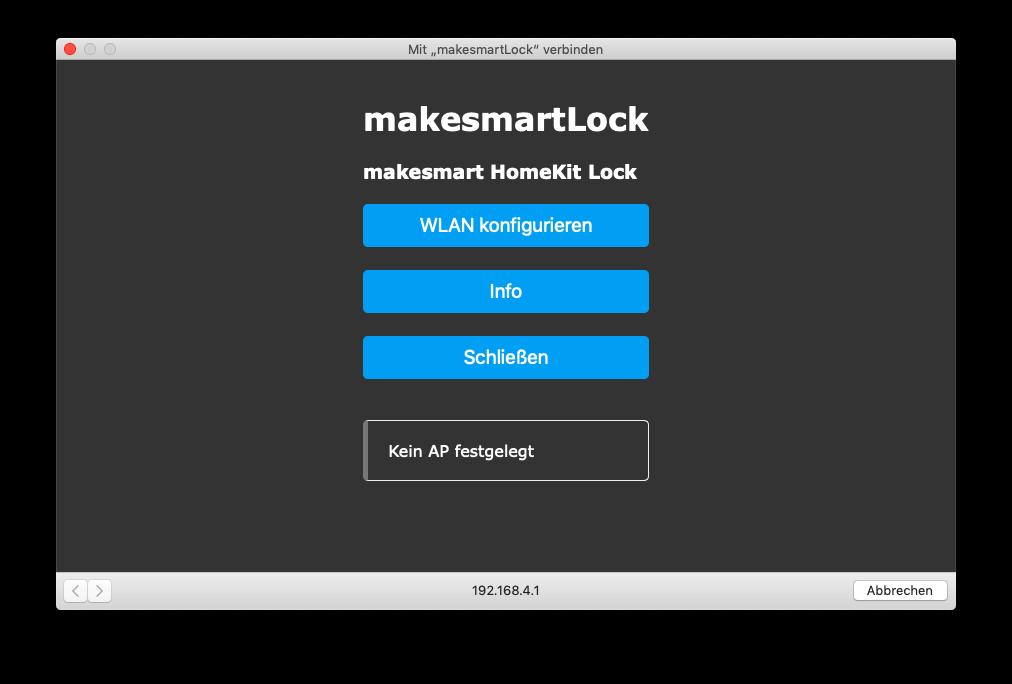 makesmart lock homekit wlan portal
