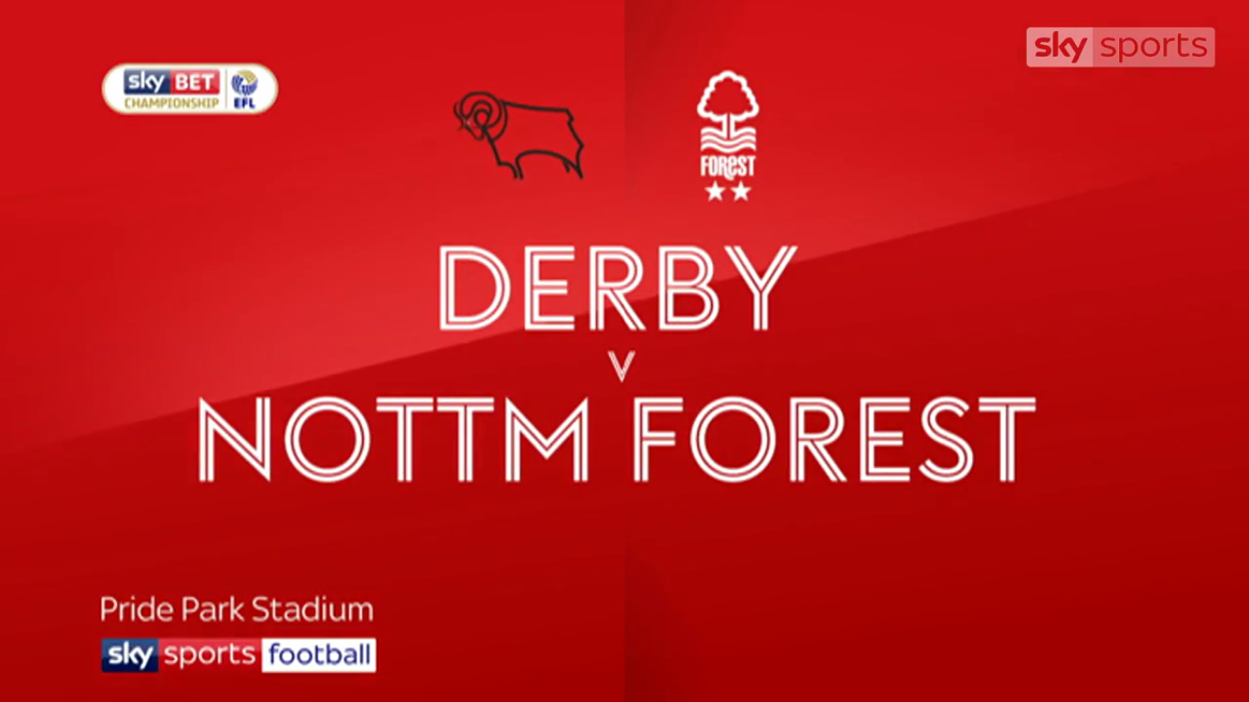 15-10-2017 - Derby County 2-0 Nottingham Forest (CHAMPIONSHIP)