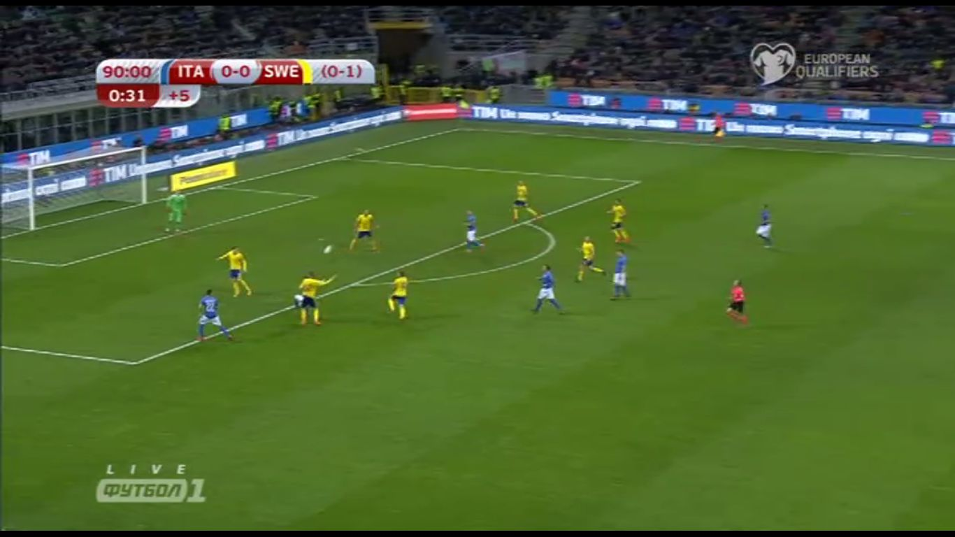 13-11-2017 - Italy 0-0 Sweden (WORLD CUP QUALIF. PLAY OFF)