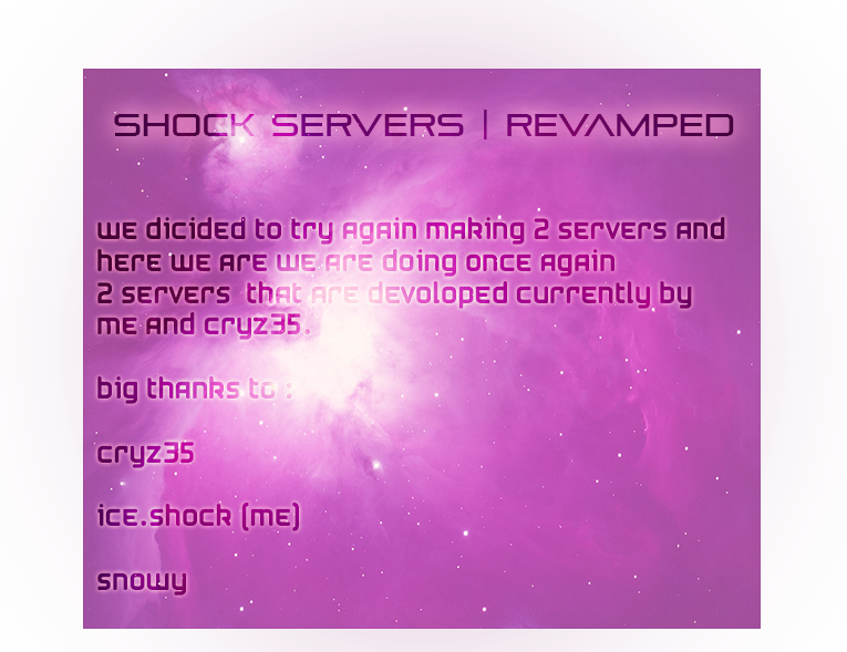 Darkorbit Private Shock Servers