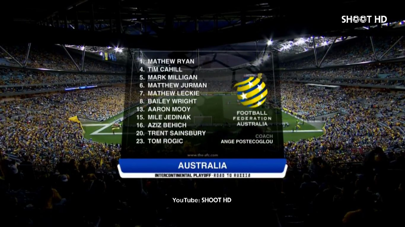 15-11-2017 - Australia 3-1 Honduras (WORLD CUP QUALIF. PLAY OFF)