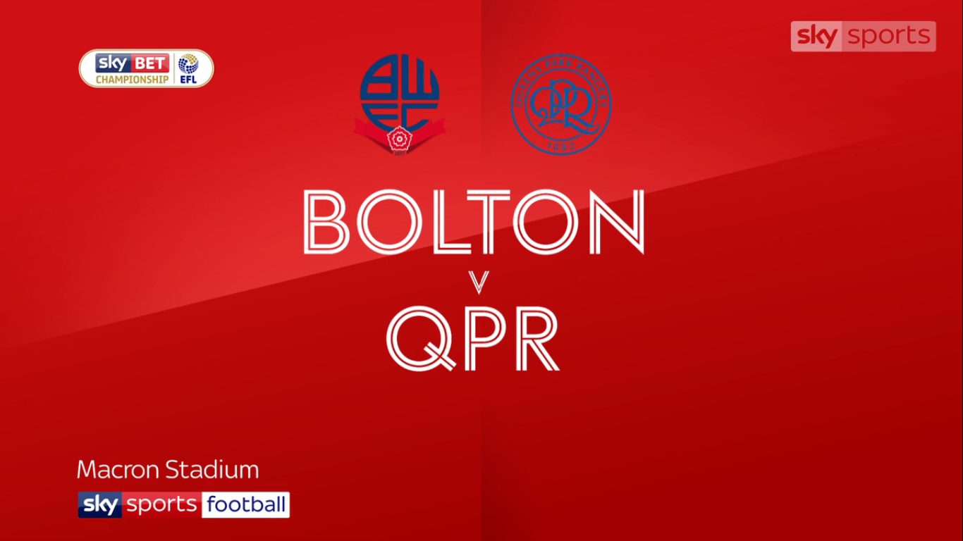 21-10-2017 - Bolton Wanderers 1-1 Queens Park Rangers (CHAMPIONSHIP)