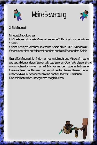 Bewerbung Zum Minecraft Server Abgelehnte Bewerbungen Gadarols - Minecraft spielen server