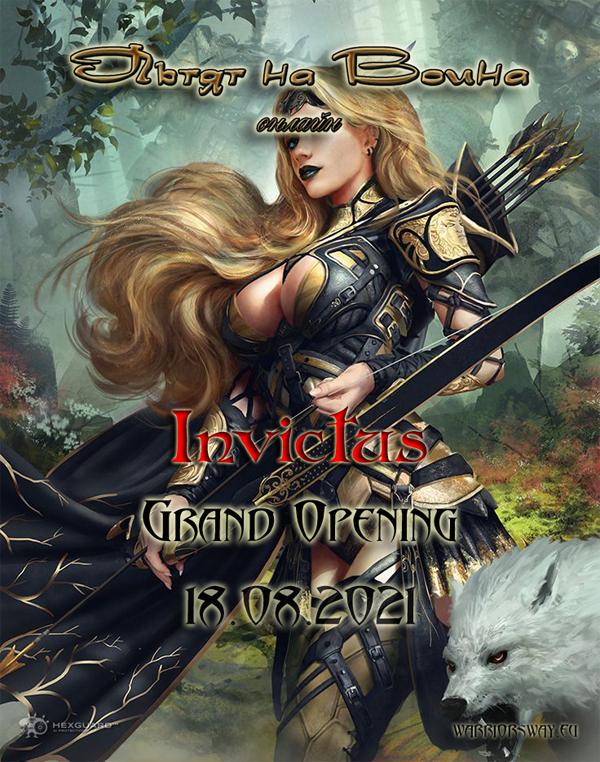 Warrior's Way Online - Server Invictus Grand opening 18.08.21