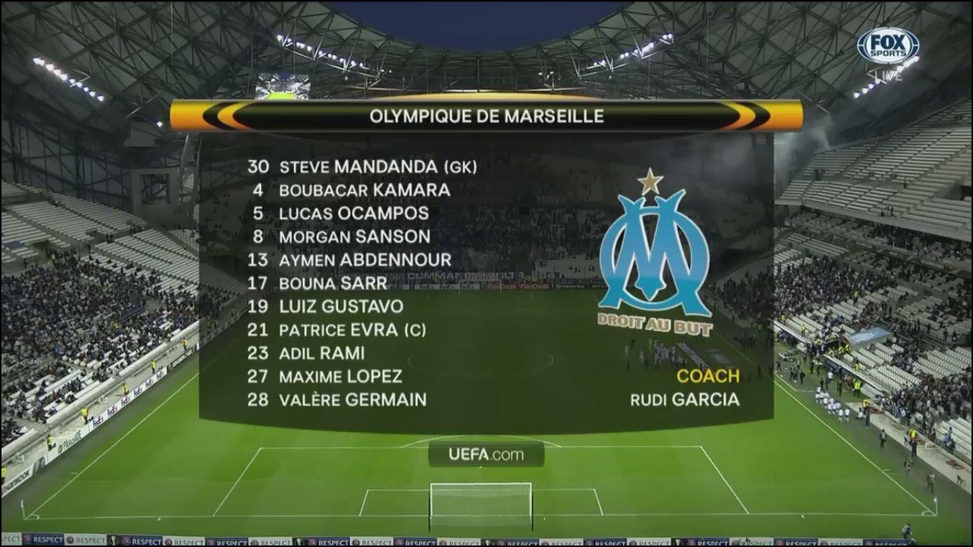 19-10-2017 - Marseille 2-1 Vitoria de Guimaraes (EUROPA LEAGUE)
