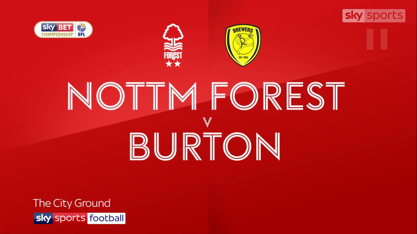 21-10-2017 - Nottingham Forest 2-0 Burton Albion (CHAMPIONSHIP)
