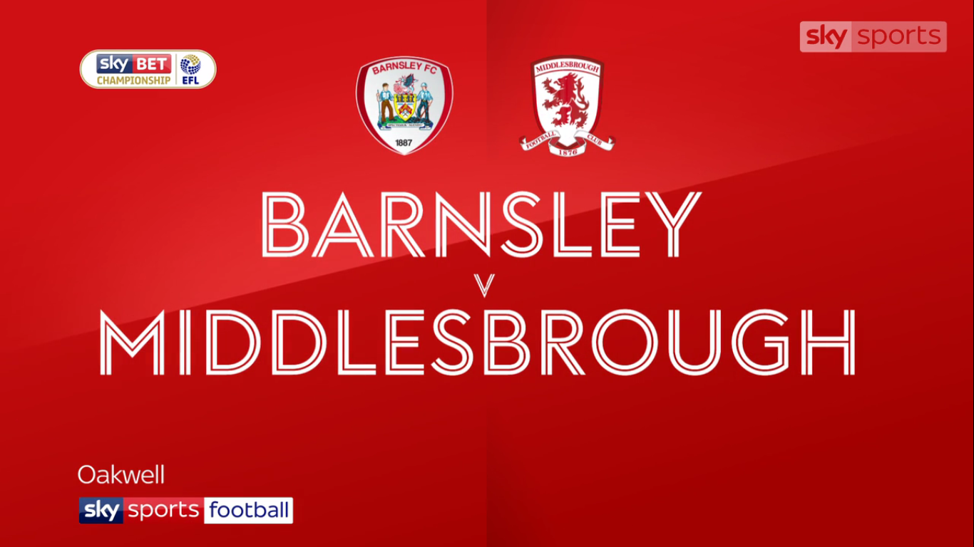 14-10-2017 - Barnsley 2-2 Middlesbrough (CHAMPIONSHIP)