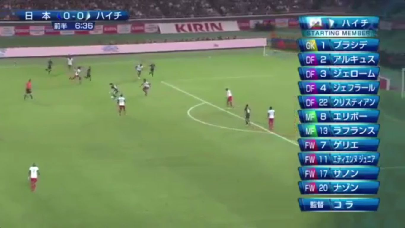 10-10-2017 - Japan 3-3 Haiti (FRIENDLY)