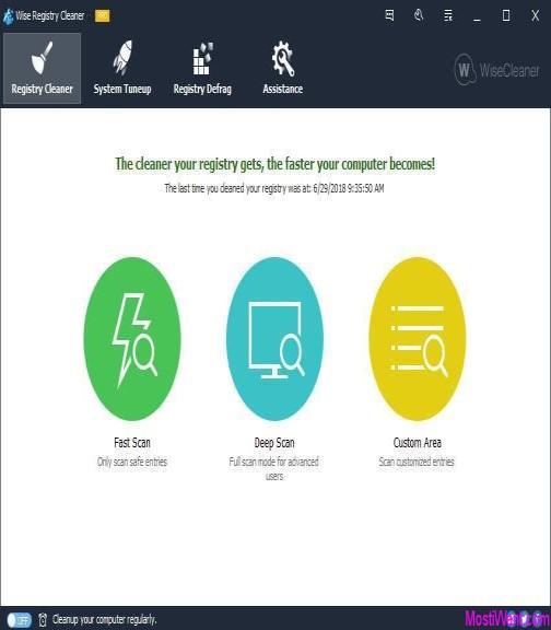 تنظيف وإصلاح مشاكل التسجيل  10.2.3 Wise Registry Cleaner Pro مجانا مدى الحياة xJ8Bfab.jpg